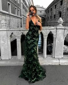 Green Sequined Lace Spaghetti Strap Long Evening Dress,V-neck Prom Dress,Mermaid Prom Dresses 2018 Cheap Prom Gowns from Ulass Blush Prom Dress, V Neck Prom Dresses, A Line Prom Dresses, Mermaid Prom Dresses, Prom Gowns, Photos Of Dresses, Dream Dress, Marie, Ball Gowns