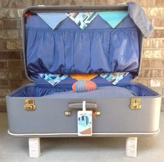 Large Vintage Suitcase, Second view.