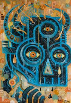 la ventaja de ser todo ojo     es que los seres de muchos ojos te miran como dios.        /°)  de niark1 _____________________  the advantage of being all eye is that creatures of multiple eyes see you as god