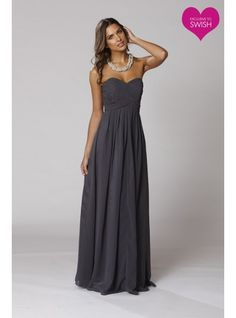 charcoal bridesmaid dresses | wedding ideas | Pinterest | Pewter ...
