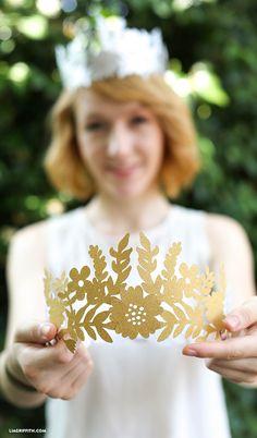 DIY paper crown