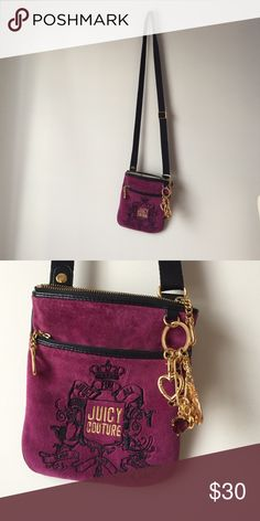 ecf24f28cfdf Juicy couture purse A juicy couture suede purse that has barely ever been  used. Juicy