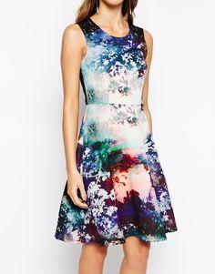 Image 3 ofCoast Millie Dress in Scuba Scenic Print
