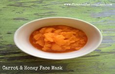 carrot and honey face mask