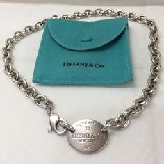 AUTHENTIC TIFFANY & COMPANY NECKLACE Silver link chain Tiffany & Co. Jewelry Necklaces