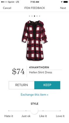 41Hawthorn Hellen Shirt Dress - red plaid - Stitch fix 2016