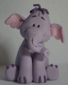 Polymer clay Lumpy elephant tutorial