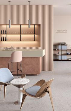 Time to have a drink, don't you think? Clinic Interior Design, Restaurant Interior Design, Commercial Interior Design, Yoga Studio Interior, Commercial Interiors, Schönheitssalon Design, House Design, Cafe Shop Design, Retail Interior