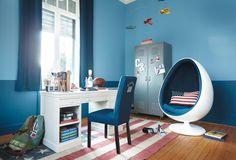 Idee deco chambre garcon ado ado garcon id e ado idee deco peinture chambre ado garcon Jute Fabric, Egg Chair, Kidsroom, Boy Room, Sweet Home, Interior Design, House, Furniture, Home Decor