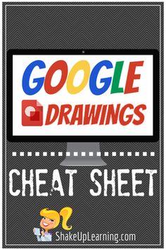 Google Drawings Cheat Sheet | www.shakeuplearning.com