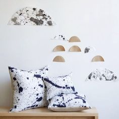 Splatter dyed pillows are a fall favorite and we have a lot of fun making them! #rebeccaatwood