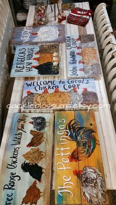 SUSAN WYMOLA ART AND MUSINGS: CUSTOM CHICKEN COOP SIGNS and OTHER CUSTOM PAINTINGS