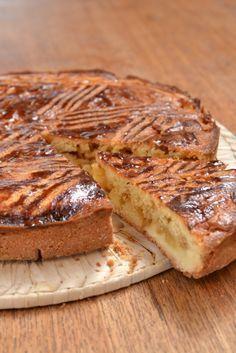 Gâteau breton aux pommes et caramel beurre salé