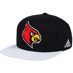 official photos 48640 f80e1 adidas Louisville Cardinals Flat Brim Snapback Cap (82.660 COP) ❤ liked on  Polyvore featuring