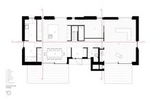 plan architectural du premier étage de la maison champêtre moderne