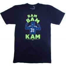 Juniors Seattle Seahawks Navy Blue Bolder Burnout T-Shirt