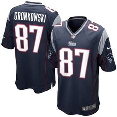 New Gronk Jersey - Nike Rob Gronkowski New England Patriots Game Jersey - Navy Blue