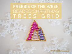 beaded christmas trees grid