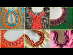 Top Trending Neck Designs Made with Dori Piping 2019 Latest Blouse Neck Designs, Blouse Designs High Neck, Kids Blouse Designs, Neck Designs For Suits, Simple Blouse Designs, Neckline Designs, Hand Designs, Dress Designs, Sleeve Designs