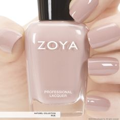 Zoya Nail Polish in Rue a full-coverage boudoir blush cream