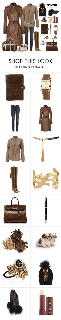 """""""Winter ready ?"""" by ellenfischerbeauty ❤ liked on Polyvore featuring Chanel, Hermès, Paige Denim, Burberry, Yves Saint Laurent, Chloé, Parker, Chloe + Isabel, Dolce&Gabbana and Guanti Giglio Fiorentino"""