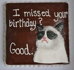 Grumpy Cat birthday cake by Piper Cakes