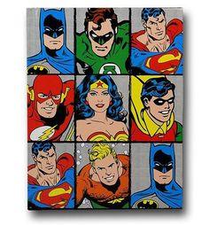 DC Heroes Grid Journal - Geek Decor                                                                                                                                                      More