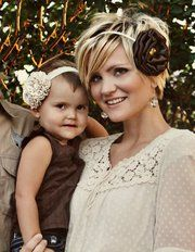 A headband w/ flower AND short hair - too cute!!!! Becki @ whippy cake! Hair envy!