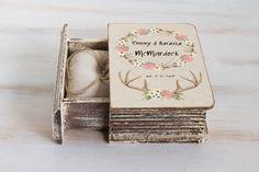 #Floralringbox #Antlersweddingbox #PersonalizedRingBox #Bohochicwedding #ringbearerbox #RusticWeddingbox #Custo RingHolder #Engagementbox