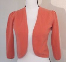 PURE Collection Sweater Size 4 100% Cashmere Orange Shrug Salmon  in Clothing, Shoes & Accessories, Women's Clothing, Sweaters | eBay