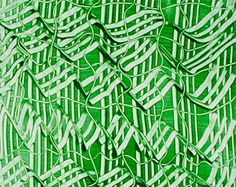 Paste paper - colored paste applied to paper, patterns created by twisting & pulling tools through the wet paste