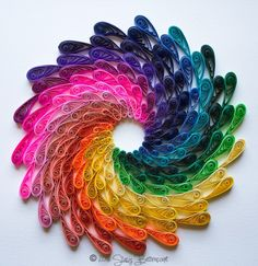 Another Quilled Rainbow Spiral