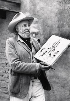 """DeGrazia once said, """"I do a lot of brooding before I begin work. You have to know what you're going to do when you walk up to the canvas, because once it's done, you can't go back and touch it up again."""" Happy Throwback Thursday! #TedDeGrazia #DeGrazia #Ettore #Ted #Artist #GalleryInTheSun #ArtGallery #Gallery #NationalHistoricDistrict #Foundation #Nonprofit #Adobe #Architecture #Tucson #Arizona #AZ #Catalinas #Desert #Paintings #TrowbackThursday #TBT"""