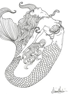 realistic mermaid coloring pages for adults tagged with detailed coloring pages for teenagers