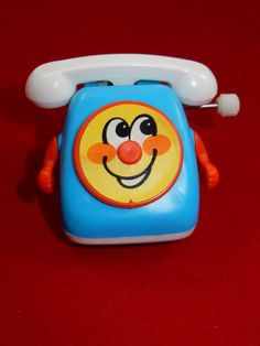 TOMY 1980's Comic Action Wind Up Phone WORKS #TOMY