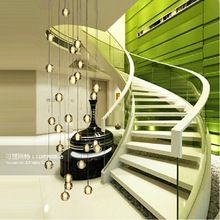 Del envío del nuevo Modern gota de lluvia del diseño largo de araña cristal brillo Flush Mount iluminación de la escalera L80 * W80 * H300CM lámpara colgante(China (Mainland))