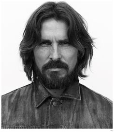 Christian Bale graces the pages of WSJ Magazine, ahead of his role as Moses in Ridley Scott's 'Exodus: Gods & Kings', wearing rugged menswear by Ralph Lauren and Melet Mercantile. Wsj Magazine, Black Magazine, Magazine Covers, Christian Bale Beard, Fashion Tape, Style Fashion, Fashion Ideas, Celebrity Portraits, Black And White Portraits