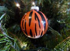 Handpainted Tiger Stripe Ornament Animal by OriginalsbyAmandaO, $7.50
