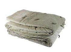 En-fil-dindienne - Plaid velours jete lit Tosca - Beige - 160x160 cm