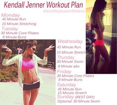 Kendall Jenner workout creds to Danielle Peazer Fitness on tumblr