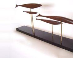 mid century modern abstract danish modern fish sculpture retro