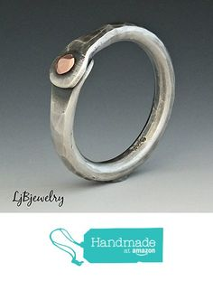 Rustic Silver Ring Hammered Texture Ring Mixed Metal Ring Jewelry Copper Sterling Silver Oxidized Patina Rivet Ring Thumb Ring Cold Connection Ring http://www.amazon.com/dp/B016PHFVXW/ref=hnd_sw_r_pi_dp_DCeiwb160DJBX #handmadeatamazon