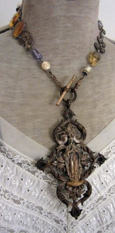 heaven's gate  vintage assemblage necklace with by TheFrenchCircus, $220.00