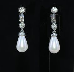 Wedding Earrings, Bridesmaid Earrings, Bridal Jewelry - Crystal