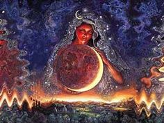 Mah Persian Goddess of Planet Moon who presides over time and tide.