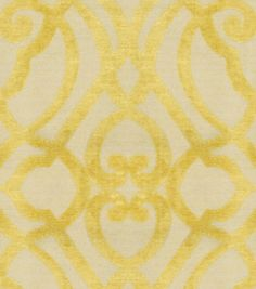 Upholstery Fabric-Waverly Sabah Citrine, , hi-res