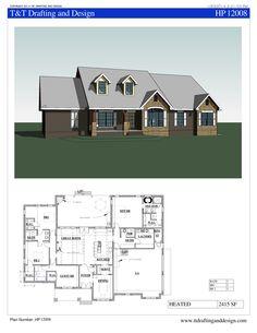 TTD12008 House Plan : 4 bedroom, 2 1/2 bath