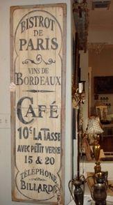 Bistrot de Paris - Cafe. Love this sign!!
