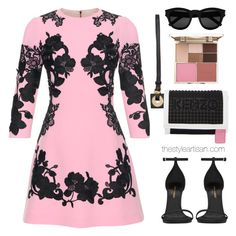 """""""Dolce GABBANA"""" by thestyleartisan ❤ liked on Polyvore featuring Dolce&Gabbana, Yves Saint Laurent, Kenzo, Stila, dolceandgabbana and minidress"""