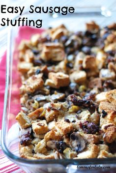 Easy stuffing with all the fixings! www.lemonsforlulu.com